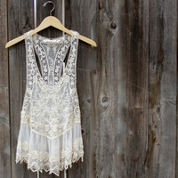 beach cover up lacy tank