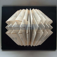 Altered Book Sculpture with Embroidery