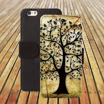 tree case colorful life iphone 5/ 5s iphone 4/ 4s iPhone 6 6 Plus iphone 5C Wallet Case , iPhone 5 Case, Cover, Cases colorful pattern L025