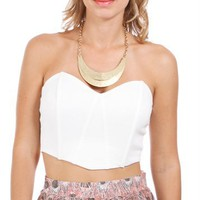 Ivory Short Bustier Top