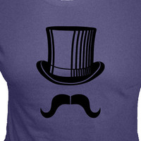 $24.00 Mustache Shirt / Moustache Shirt  Mr Mustache with by redbrickwall