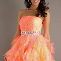 Hannah S Short Strapless Prom Dress 27716