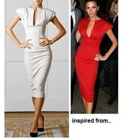 Victoria Beckham Pencil Dress by Glamfoxx
