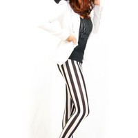 Black and White [Leggings,Tights,Bottoms,Pants]