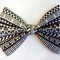Aztec Print Hair Bow