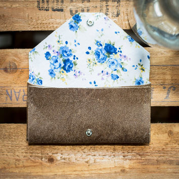 natural leather and floral fabric phone case for iPhone, HTC, LG Samsung Galaxy, Sony Xperia