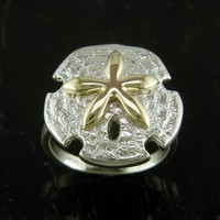Sand Dollar Ring by Steven Douglas