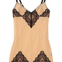 Myla Hortensia lace-embellished stretch-mesh slip - 65% Off Now at THE OUTNET