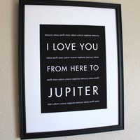 Nursery Space Art I Love You From Here To by hopskipjumppaper