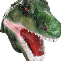 Vinyl T-Rex Mask - Scary Dinosaur Masks-so annoyed, discontinued