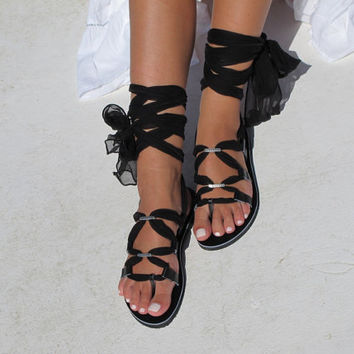 Wrap up sandals with interchangeable laces.Fully Customizable. IRIS 05 NEW