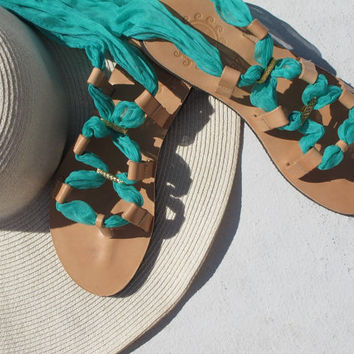 Wrap scarf sandals with interchangeable laces.Fully Customizable. IRIS 03 NEW