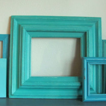 picture frames turquoise blue and aqua picture frame collection