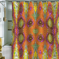 DENY Designs Home Accessories | Ingrid Padilla Fancy Orange Shower Curtain