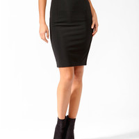 Zippered Knee Length Skirt