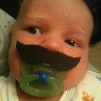 Mustache Boy Pacifier Burt Reynolds.. on Luulla