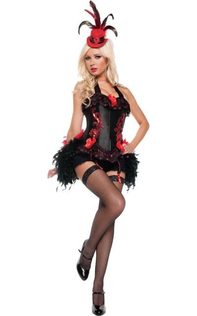 adult flirty moulin rouge costume party from party city