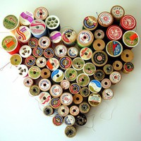 Recycled Treasures / old spools