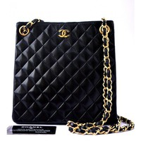 Chanel Elegant Quilted Evening Shoulder Bag Purse - Bags | Portero Luxury