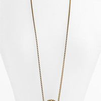 Anne Klein 'Presidio' Long Lion Head Pendant Necklace | Nordstrom