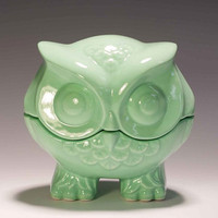 Owl trinket box from vintage mold by apiecebydenise on Etsy