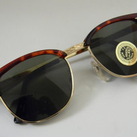 Vintage Deadstock CLUBMASTER Sunglasses TORTISE with gold trim