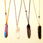 Long Crystal Prism Layering Necklace