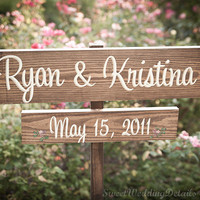 CUSTOM Rustic Wooden Wedding Signs  your by SweetWeddingDetails