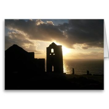 A Cornish Sunset Wheal Coates Blank