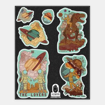 Space Tarot Cards Stickers