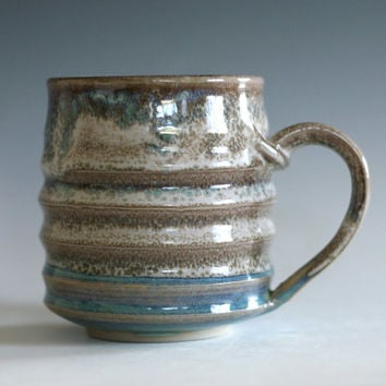 Coffee Mug, 18 oz, handmade ceramic cup, tea cup, coffee cup, handthrown ceramic stoneware pottery mug, unique coffee mug