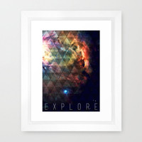 Explore II Framed Art Print by Galaxy Eyes | Society6