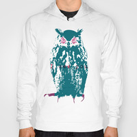 I see You (Lost Time Owl) Hoody by Bravo La Fourmi