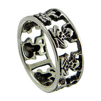 Frog Band Ring made in Sterling Silver (925) and black oxidized for perfect look