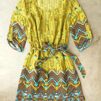 Hendrix Dress in Chartreuse [3340] - $37.00 : Vintage Inspired Clothing &amp; Affordable Fall Frocks, deloom | Modern. Vintage. Crafted.