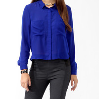 Boxy Button Back Shirt