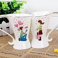 Marriage Proposal Valentines Day Matching Coffee Cup