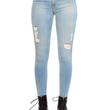 Hollywood Mid Rise Super Skinny Jeans
