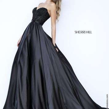 Sherri Hill 32084 Strapless Ball Gown Prom Dress