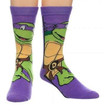 Donatello TMNT Crew Socks
