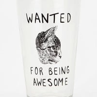 Wanted Cat Pint Glass