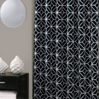 Trina Turk | Black Trellis Shower Curtain