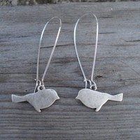 Silver Bird Earrings -- A Little Birdie Told Me
