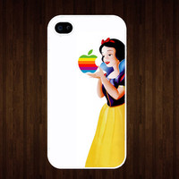 Color Snow White iPhone 4 case, geekery iPhone case for apple iPhone 4 or iPhone 4S