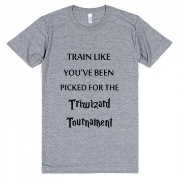 Train For The Triwizard Tournament-Unisex Athletic Grey T-Shirt