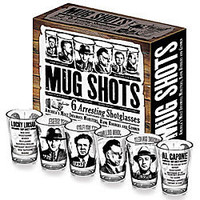 Infamous Mobsters Mug Shots Shot Glasses        -                Decor        -                Novelties                    - Things You Never Knew Existed