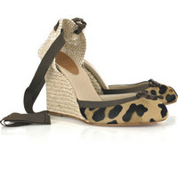 Christian Louboutin Carino 100 wedges - &amp;#36;210.00