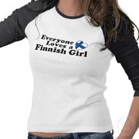 Finnish Girl T Shirts from Zazzle.com
