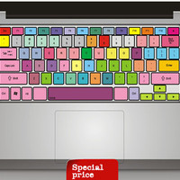Colorful Keyboard  Sticker mac decal mac book mac book pro mac book air Ipad