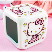 Hello Kitty Colorful Digital Alarm Clock